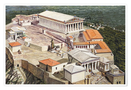 Póster  The Acropolis and Parthenon - Roger Payne