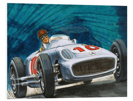 Cuadro de PVC  Juan Manuel Fangio conduce Mercedes-Benz - English School