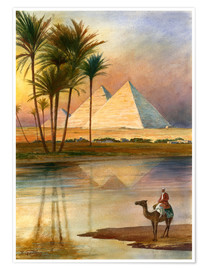 Póster  The Great Pyramid of Giizeh - English School