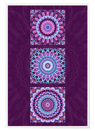 Christine Bässler - Mandala Collage purple
