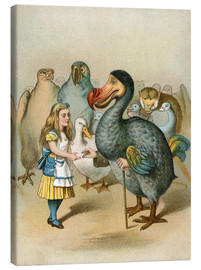 Lienzo  The Dodo solemnly presented the thimble from Alice's Adventures in Wonderland - John Tenniel