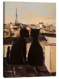 Lienzo  Cats on the roofs of Paris - JIEL
