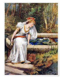 Póster  The Frog Prince - William Henry Margetson