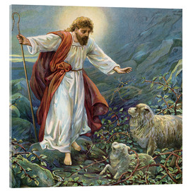 Cuadro de metacrilato  Jesus Christ, the tender shepherd - Ambrose Dudley