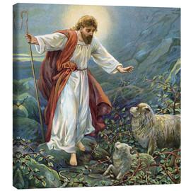 Lienzo  Jesus Christ, the tender shepherd - Ambrose Dudley