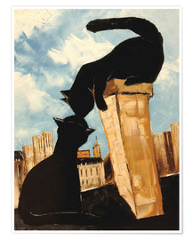 Póster  Cats in Paris - JIEL