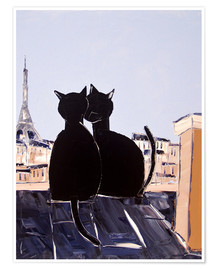 Póster Cats in Paris