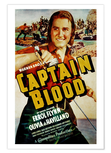 Póster CAPTAIN BLOOD, Errol Flynn, 1935