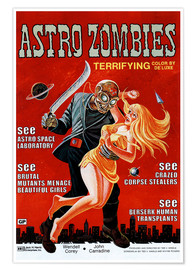 Póster  THE ASTRO-ZOMBIES, 1969
