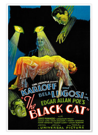 Póster THE BLACK CAT, Boris Karloff, Harry Cording, Jacqueline Wells [Julie Bishop], Bela Lugosi, 1934