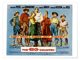 Póster  THE BIG COUNTRY, Charles Bickford, Charlton Heston, Carroll Baker, Gregory Peck, Jean Simmons, Burl