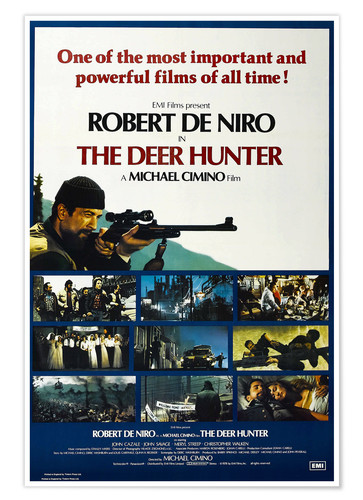 Póster THE DEER HUNTER, British poster, Robert De Niro (top left), 1978