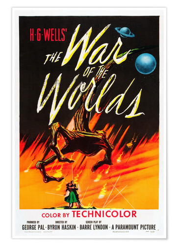 Póster THE WAR OF THE WORLDS, 1953