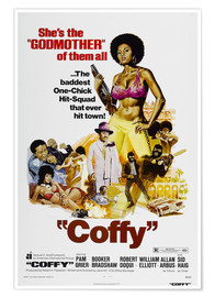 Póster COFFY, Pam Grier, 1973