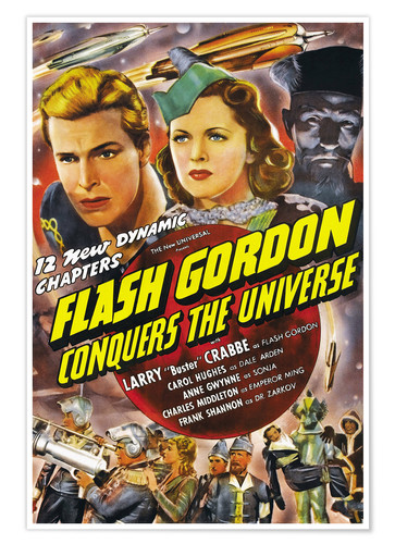 Póster Flash Gordon Conquers the Universe
