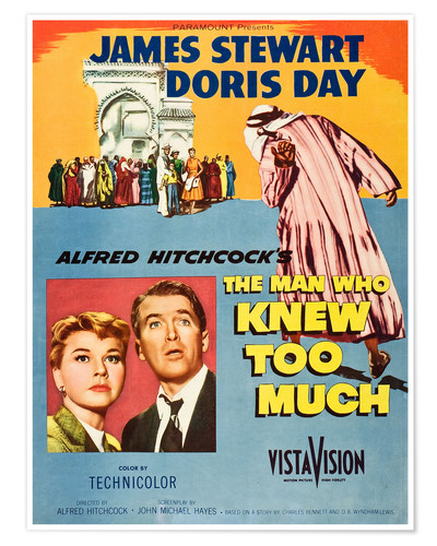 Póster THE MAN WHO KNEW TOO MUCH, Doris Day, James Stewart
