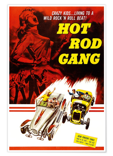 Póster HOT ROD GANG