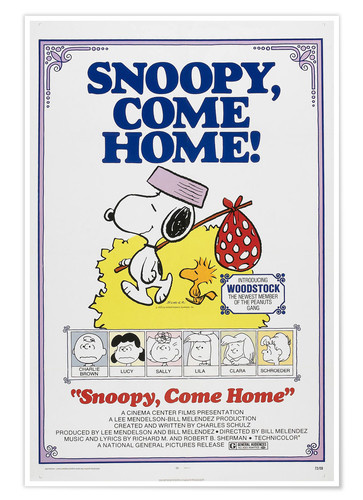 Póster Snoopy, Come Home!