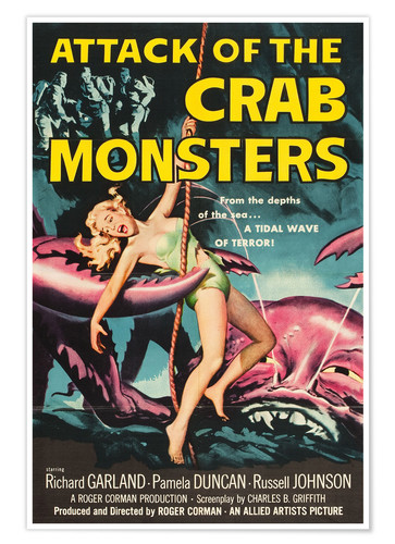 Póster Attack of the Crab Monsters