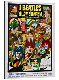 Aluminio-Dibond  The Beatles - Yellow Submarine