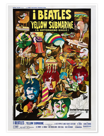 Póster  The Beatles, Yellow submarine