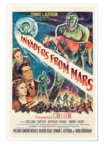 Póster Invaders from Mars