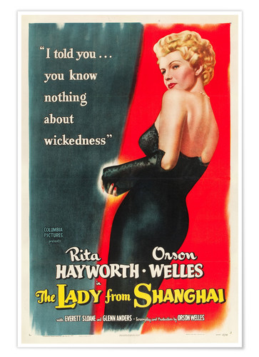 Póster THE LADY FROM SHANGHAI, Rita Hayworth, 1947