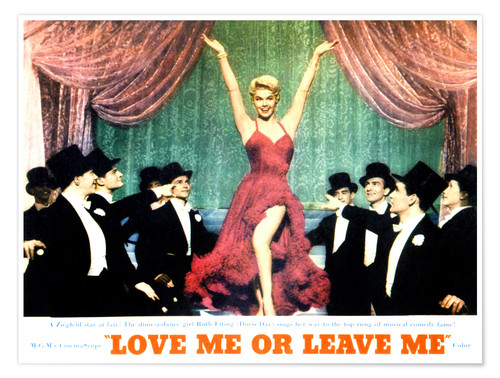 Póster LOVE ME OR LEAVE ME