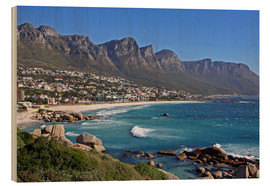 Cuadro de madera  Camps Bay, Cape Town, South Africa - wiw