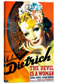 Lienzo  THE DEVIL IS A WOMAN, Marlene Dietrich, 1935 Poster Art