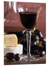 Cuadro de PVC  Cheese platter with wine - Edith Albuschat