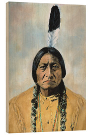 Cuadro de madera  Sitting Bull - David F. Barry