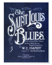 Póster Handy: 'st. Louis Blues', 1914.