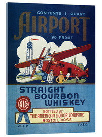 Cuadro de metacrilato  Airport Whiskey Label