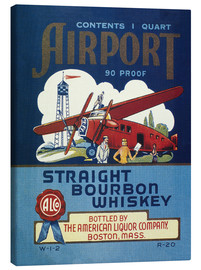 Lienzo  Airport Whiskey Label