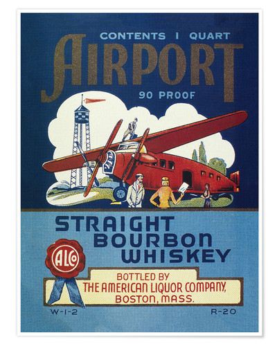 Póster Airport Whiskey Label