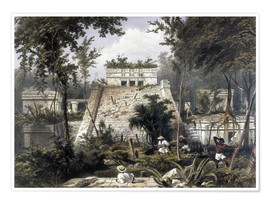 Póster  Mexico: Tulum, 1844. - Frederick Catherwood
