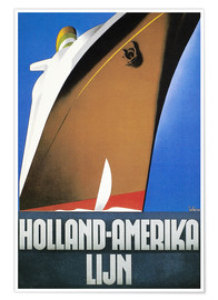Póster  Holland-Amerika - Wim ten Broek