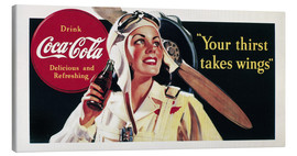 Lienzo  Coca-Cola, your thirst takes wings