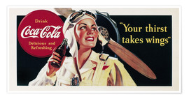 Póster Coca-Cola, your thirst takes wings
