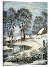 Lienzo  Currier & Ives: Winter Moonlight. - N. & J.M. Currier & Ives