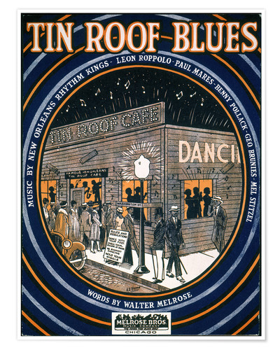 Póster Songsheet: Tin Roof Blues.