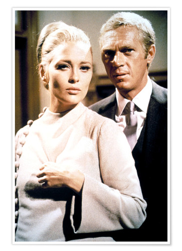 Póster THE THOMAS CROWN AFFAIR, Faye Dunaway, Steve McQueen