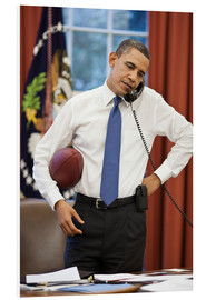 Cuadro de PVC  President Barack Obama talks on the phone