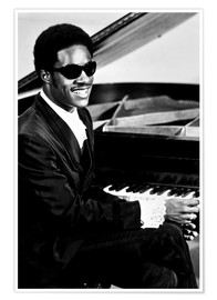 Póster  Stevie Wonder en el piano