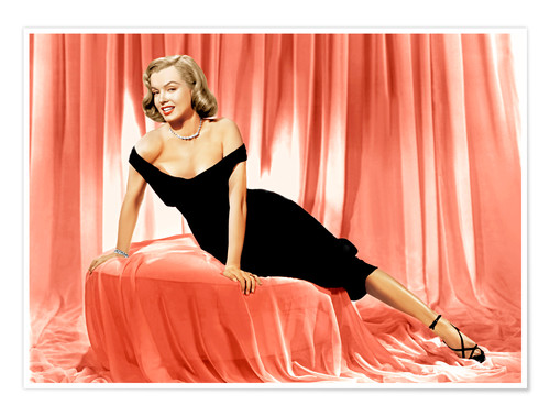 Póster Marilyn Monroe in a cocktail dress
