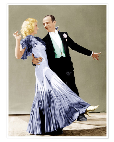 Póster THE GAY DIVORCEE, Ginger Rogers, Fred Astaire