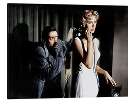 Aluminio-Dibond  Dial M for Murder, from left: Anthony Dawson, Grace Kelly in 1954