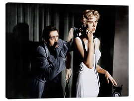 Lienzo  Dial M for Murder, from left: Anthony Dawson, Grace Kelly in 1954