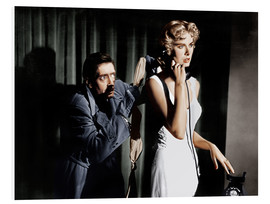 Cuadro de PVC  Dial M for Murder, from left: Anthony Dawson, Grace Kelly in 1954